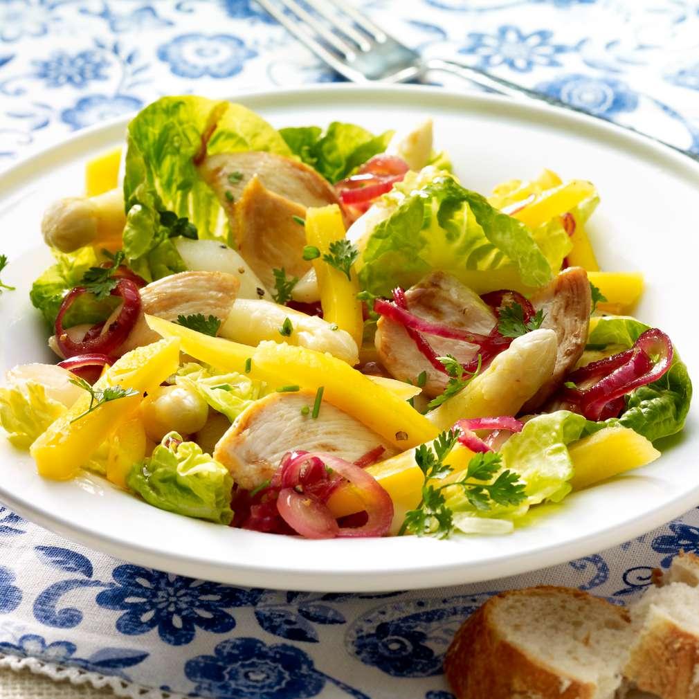 Abbildung des Rezepts Fruchtiger Hähnchen-Spargel-Salat