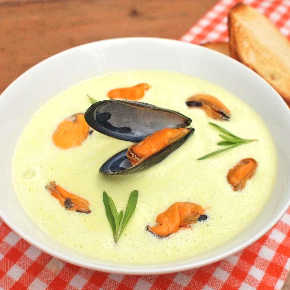 Zobrazit Krémová polévka se slávkami receptů