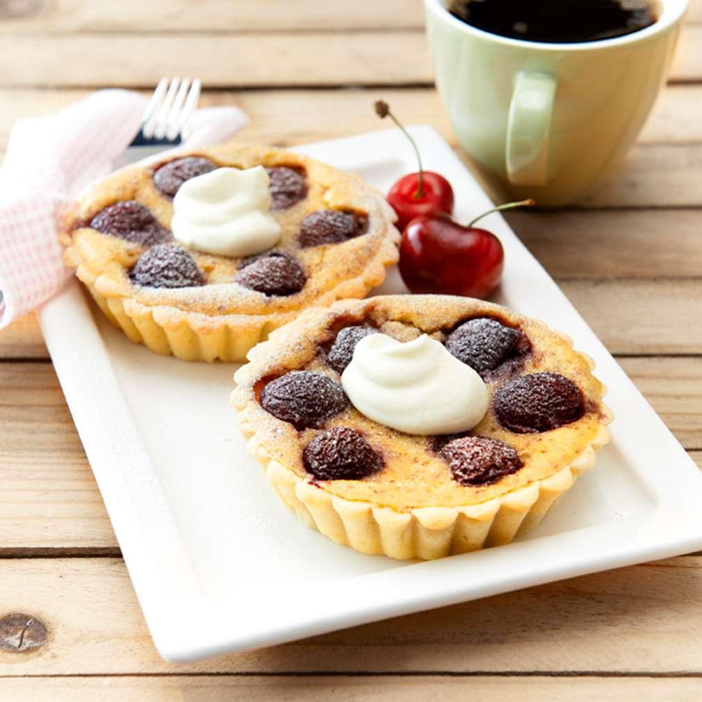 Fotografija recepta Mini pite s bademima i trešnjama