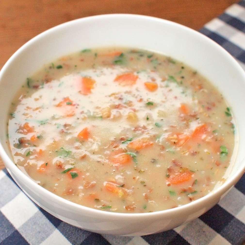 Zobrazit Pivní polévka s kroupami receptů