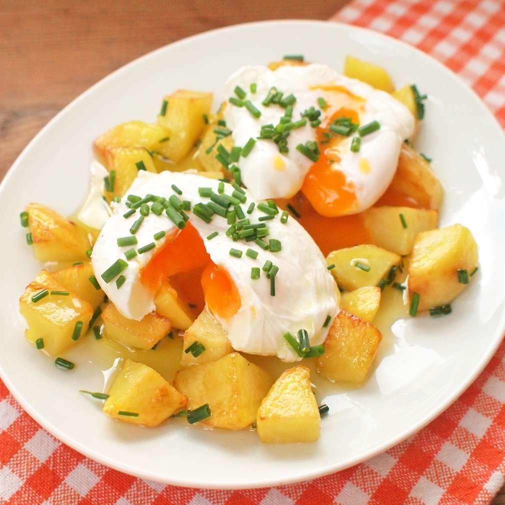 Zobrazit Ztracená vejce s brambůrky receptů