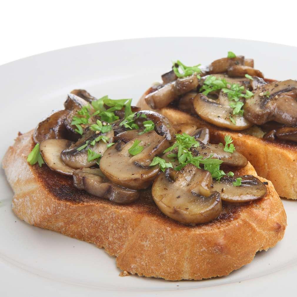 Imaginea rețetei Bruschete cu ciuperci