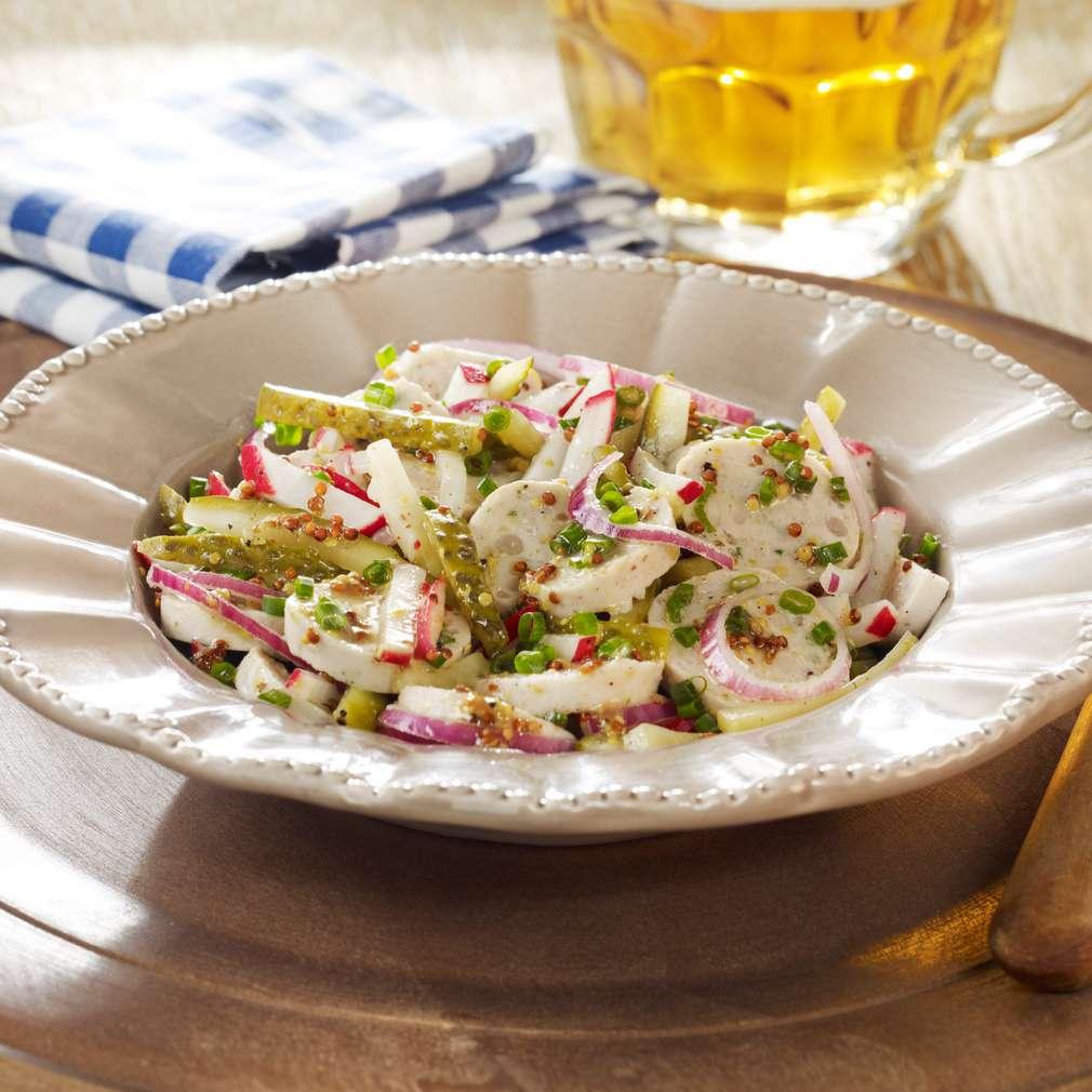 Fotografija recepta Salata s bavarskom bijelom kobasicom