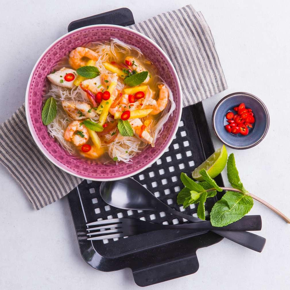 """Abbildung des Rezepts Thailändische Meeresfrüchte-Suppe """"Laksa"""""""
