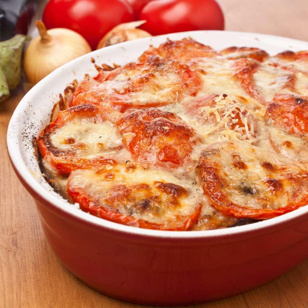 Imaginea rețetei Musaca de roșii și brânză cu usturoi