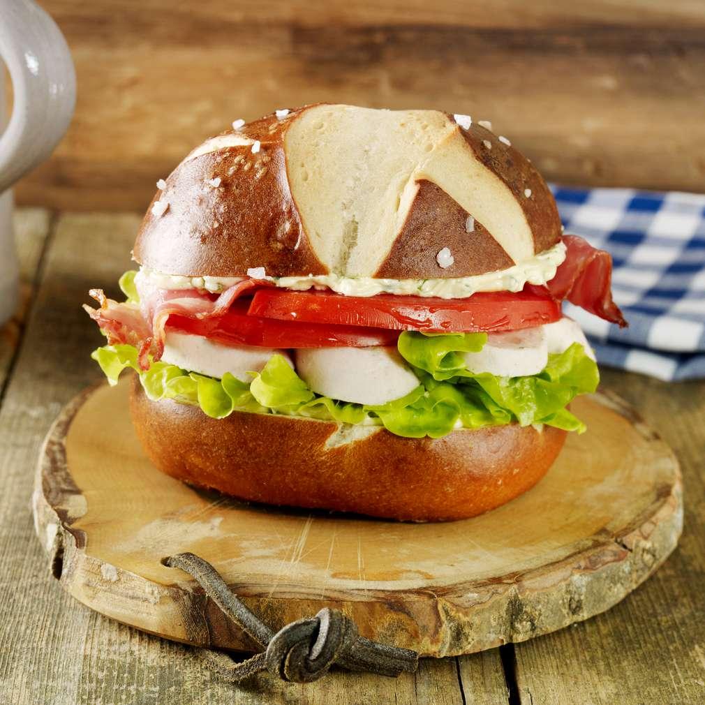 Abbildung des Rezepts Weißwurst-Burger