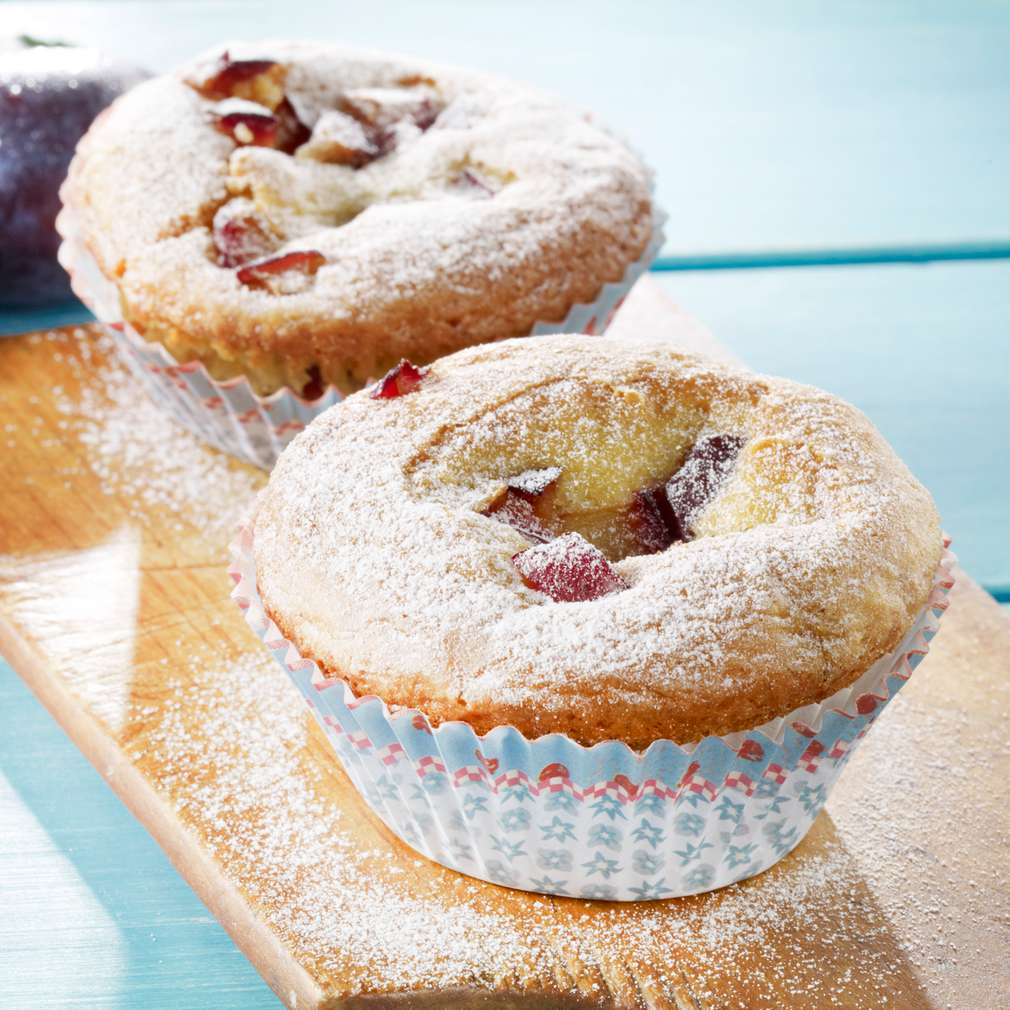 Fotografija recepta Muffini od kukuruznog brašna sa šljivama