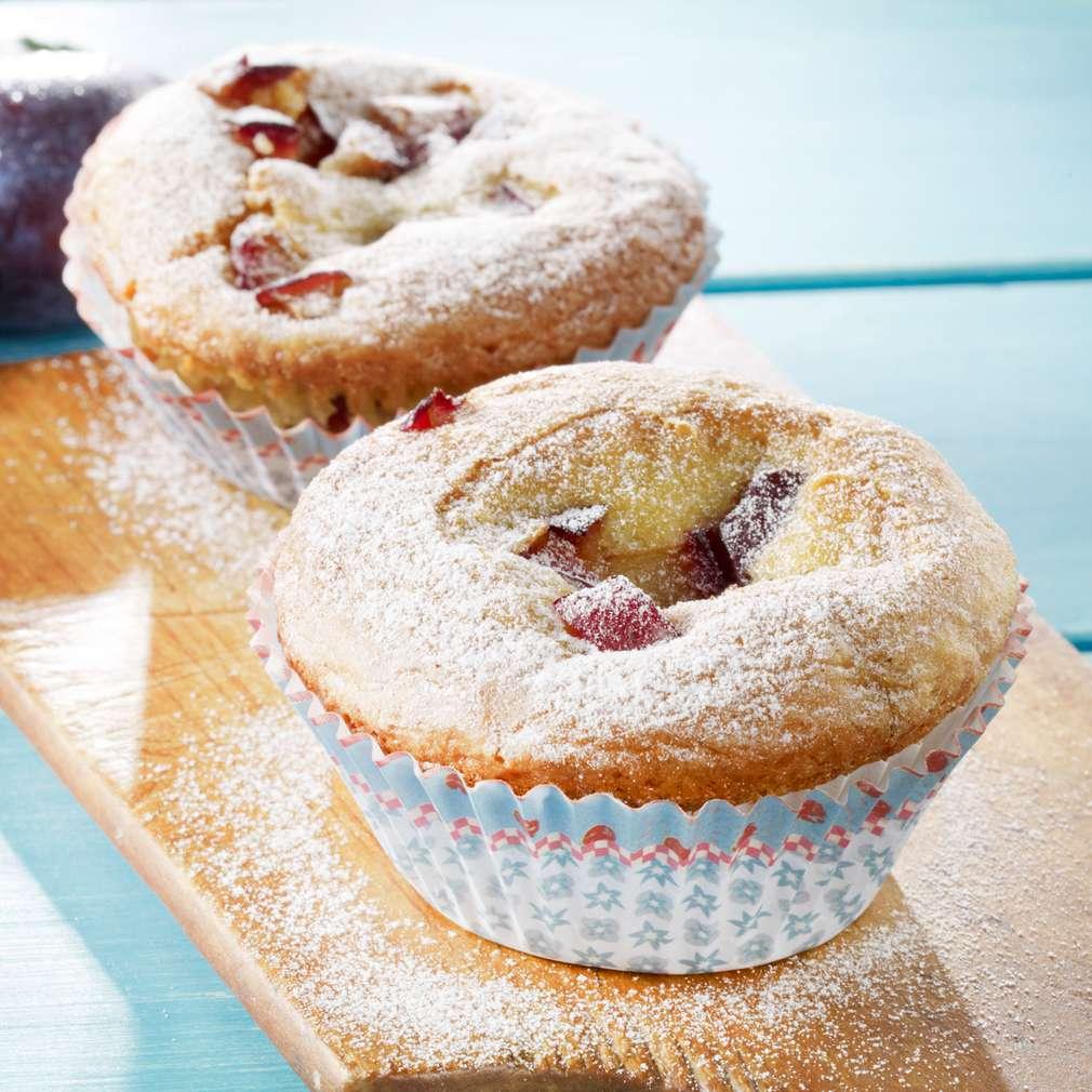 Abbildung des Rezepts Maismehl-Muffins mit Zwetschgen