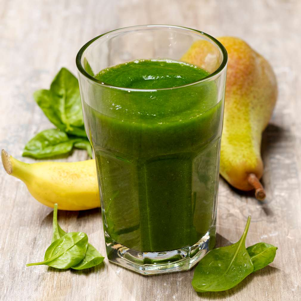 Abbildung des Rezepts Birnen-Spinat-Smoothie