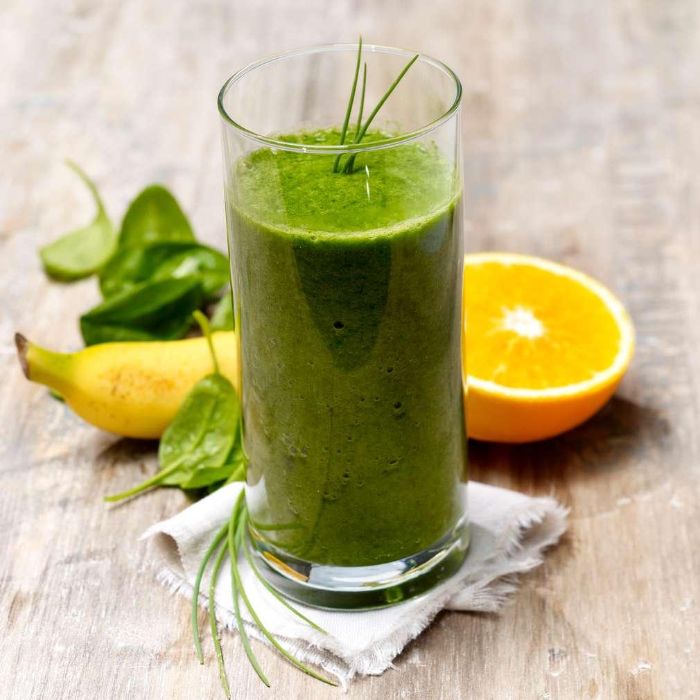 Abbildung des Rezepts Orangen-Spinat-Smoothie