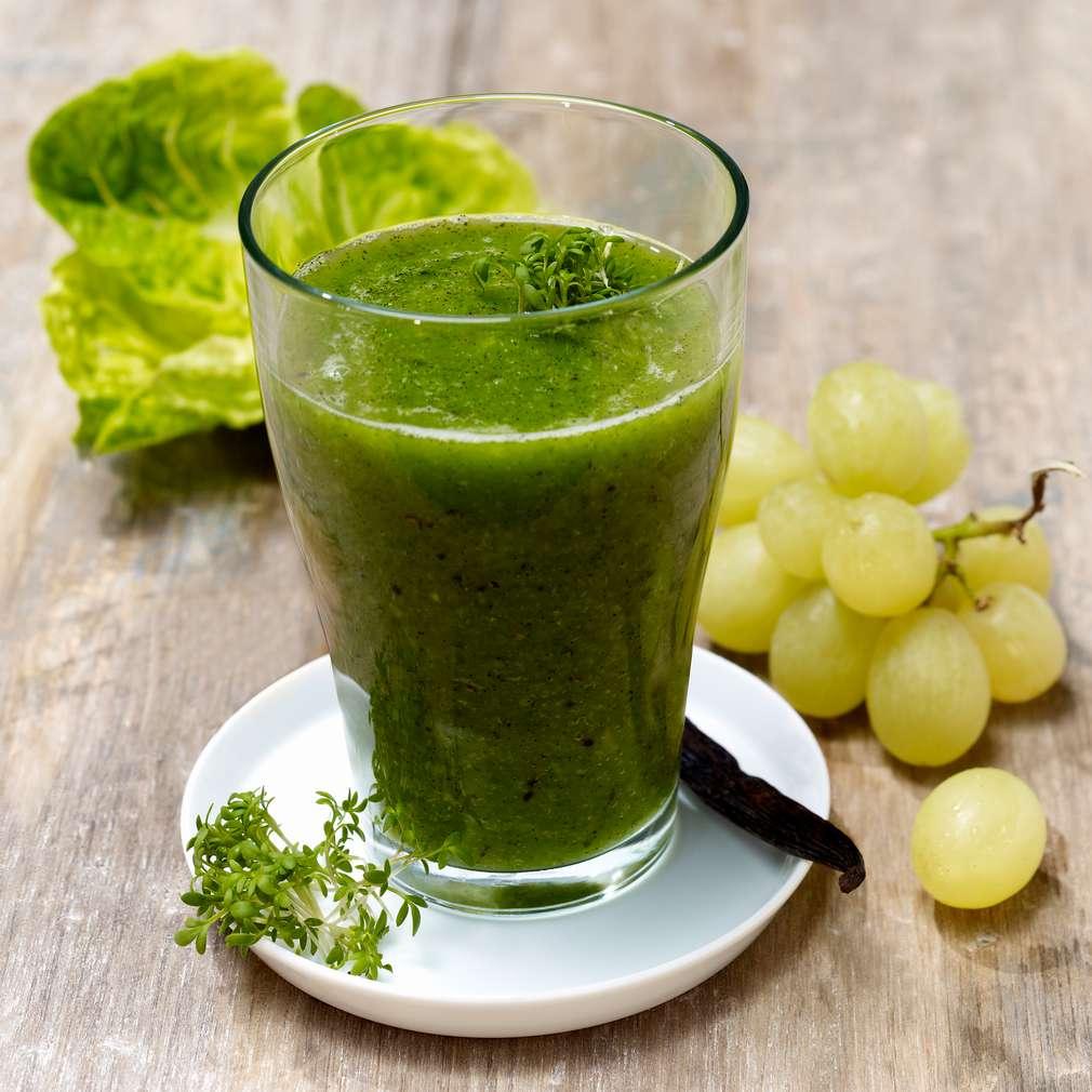 Abbildung des Rezepts Trauben-Salat-Kresse-Smoothie