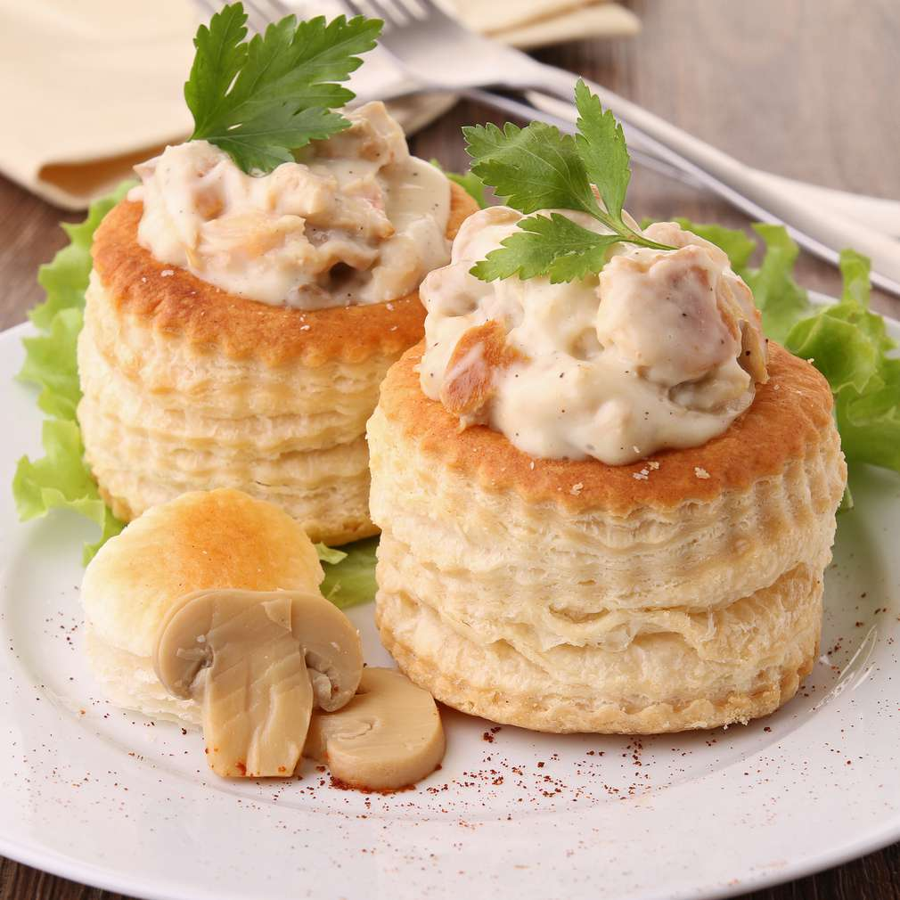 Imaginea rețetei Vol-au-vent cu ciuperci