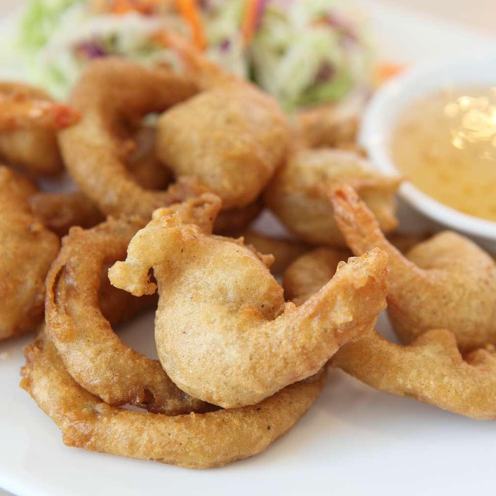 Inele de calamar cu mujdei de usturoi
