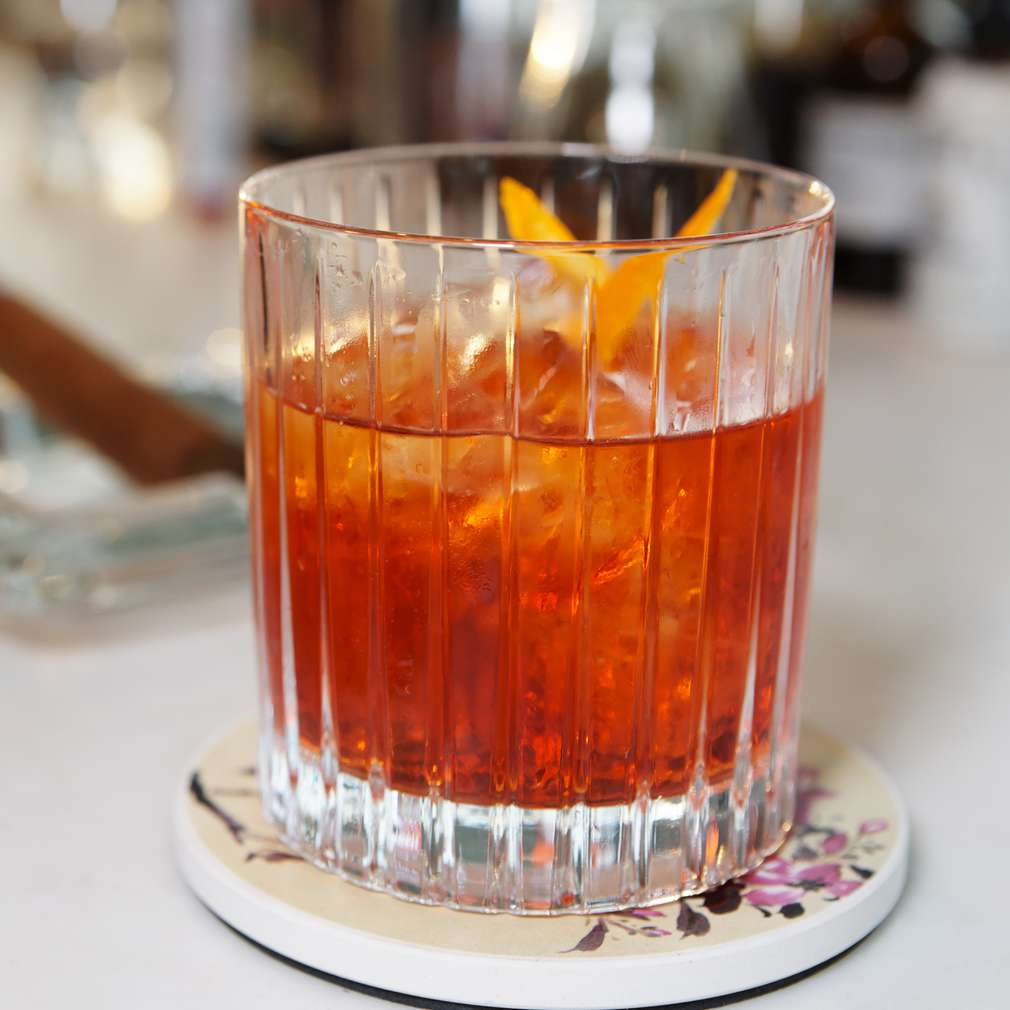 Cocktail whisky orange