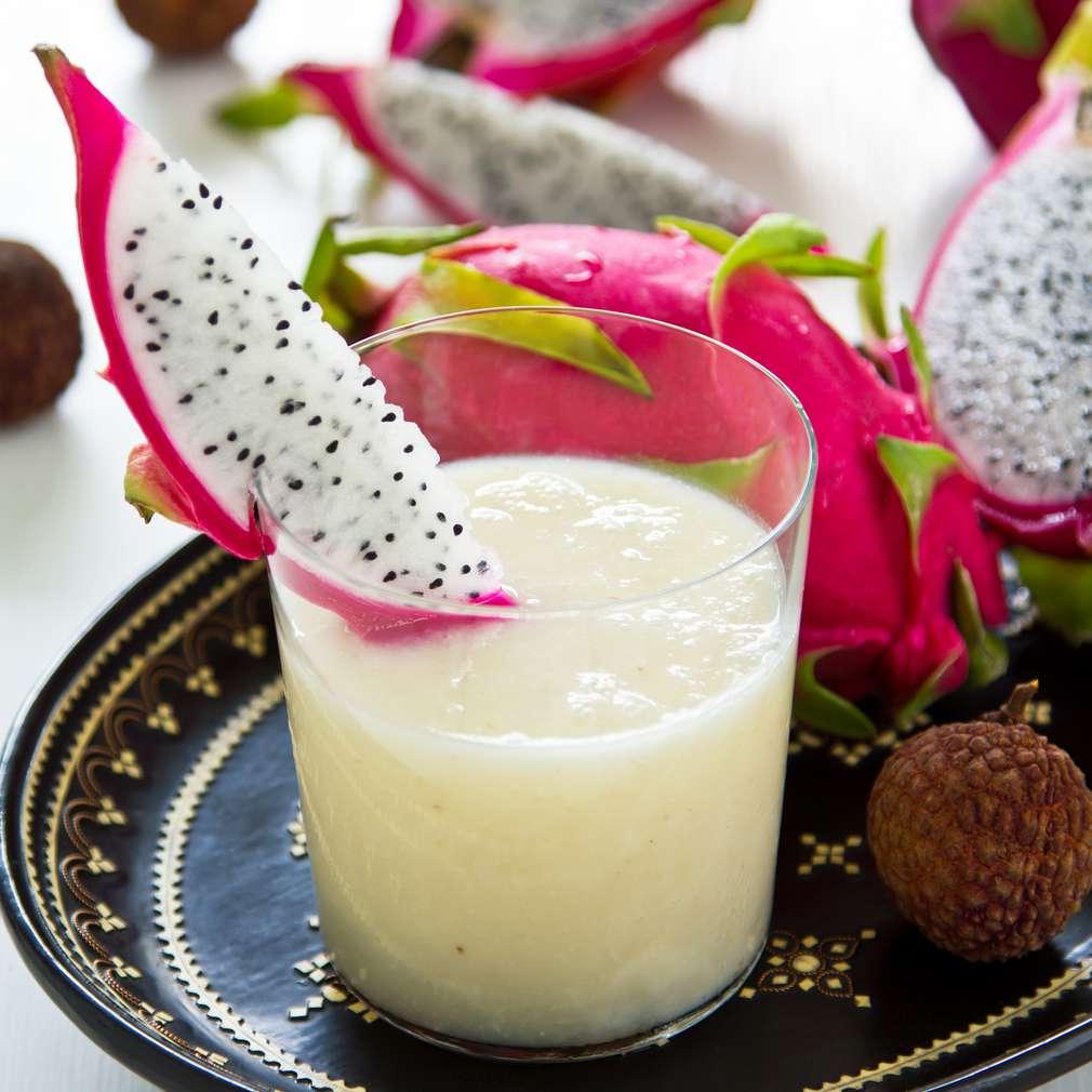 Imaginea rețetei Piure de lichees și fructul dragonului