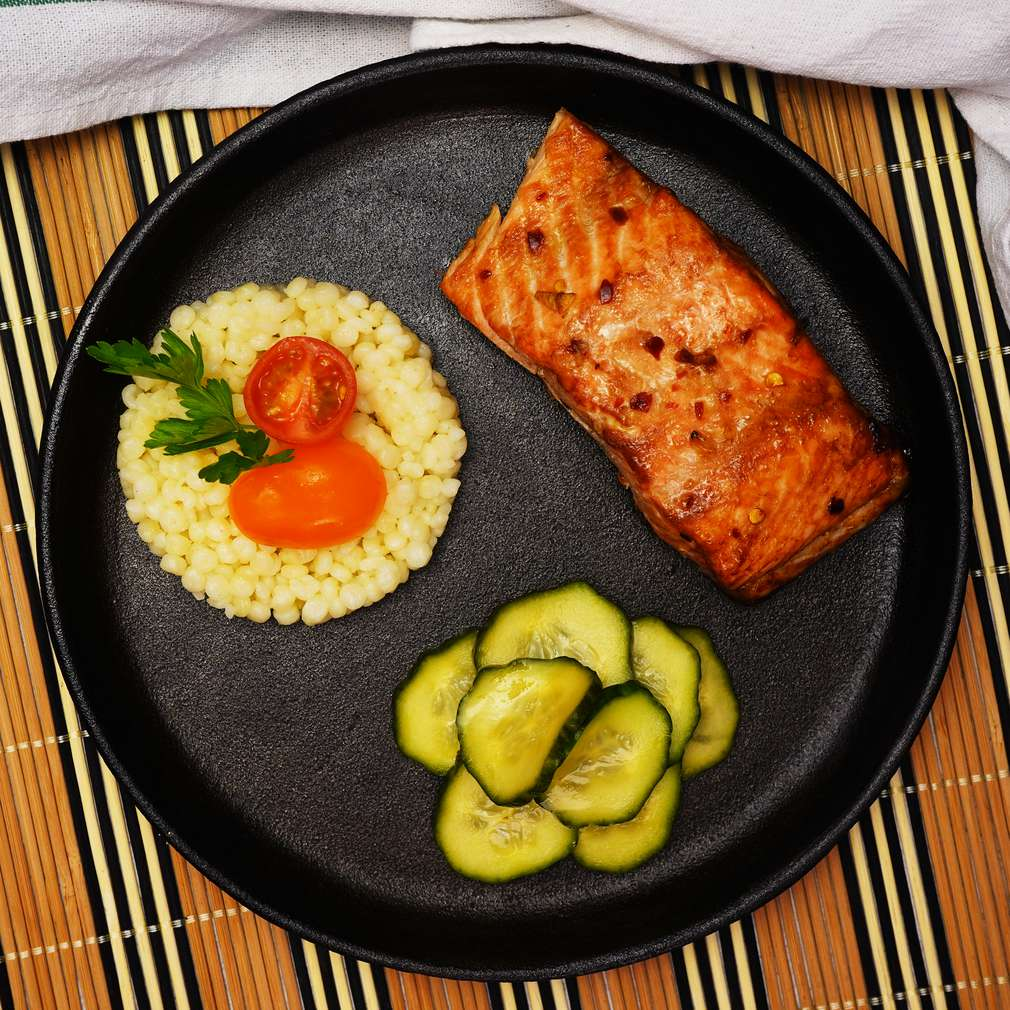 Изобразяване на рецептата Печена сьомга с майонезен сос