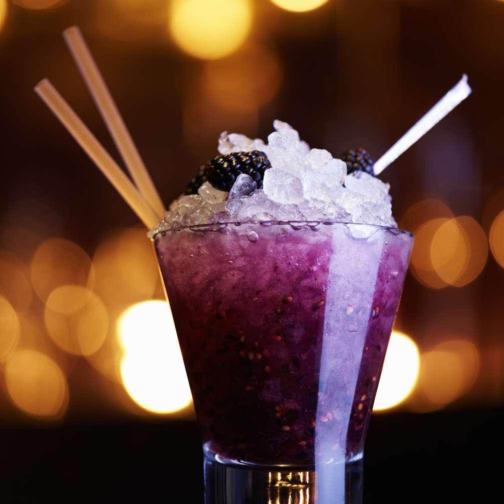 Cocktail non-alcoolic de mure