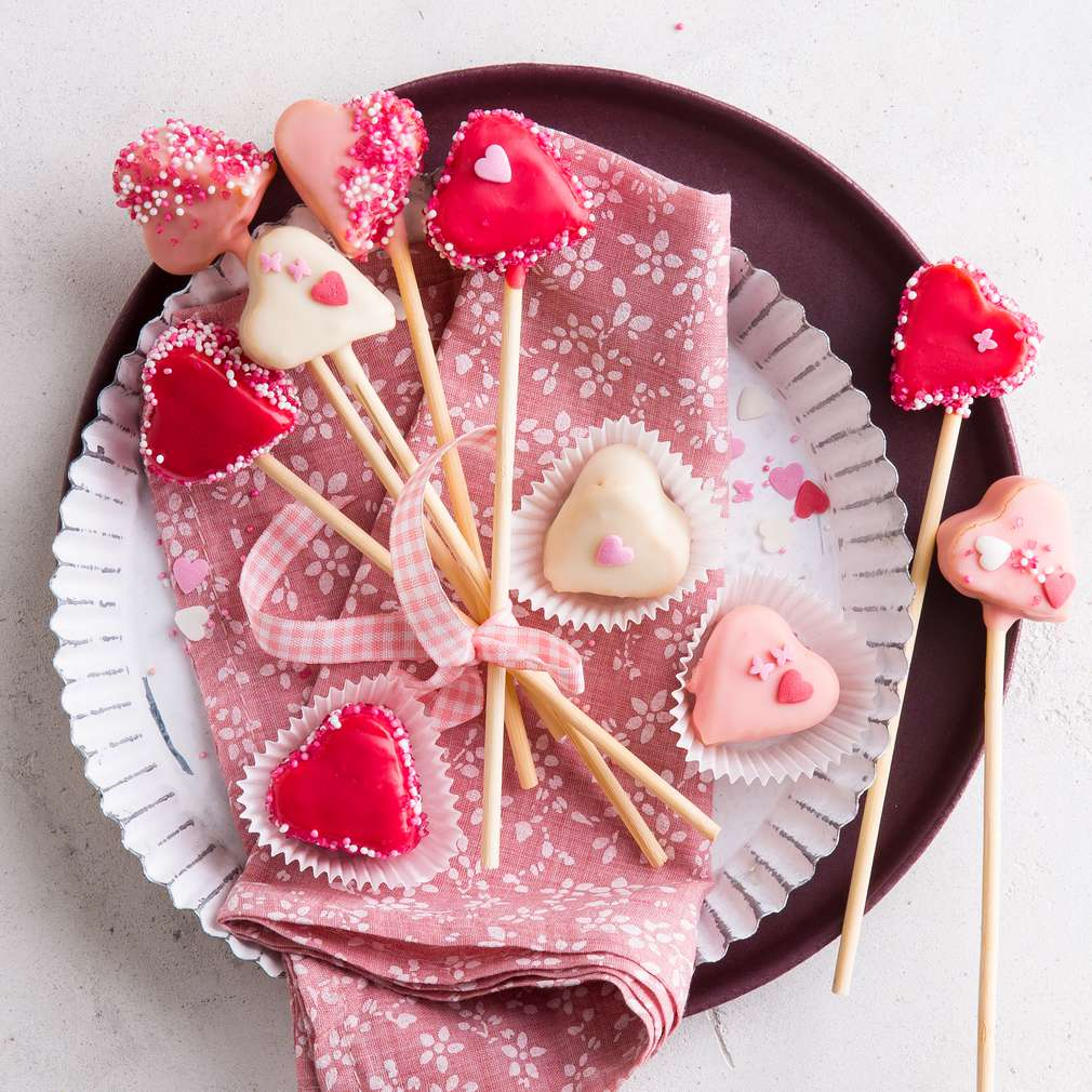 Abbildung des Rezepts Herz-Cakepops