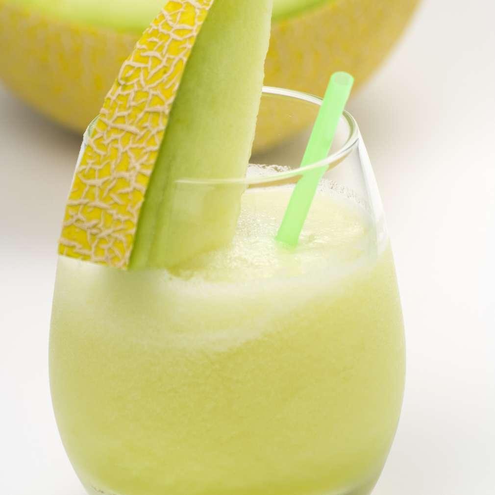 Imaginea rețetei Milkshake de pepene galben