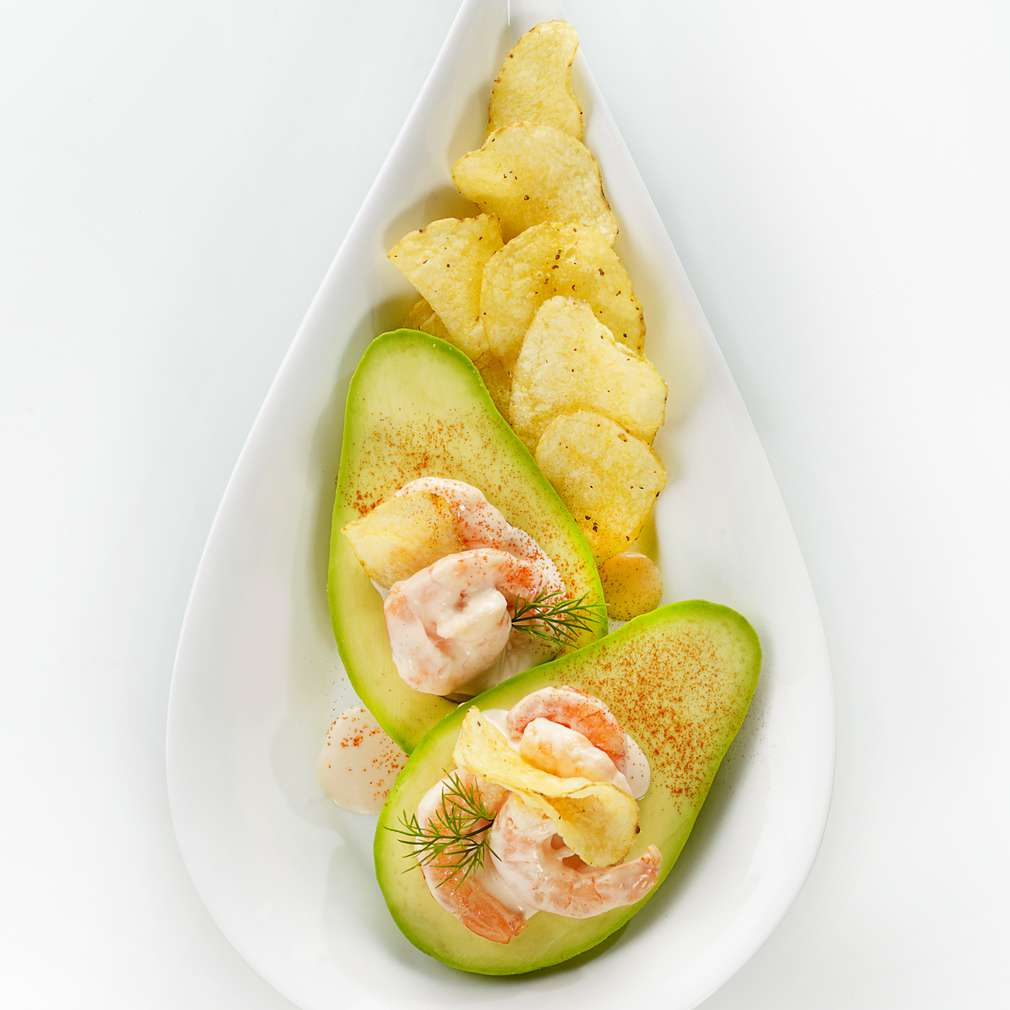 Abbildung des Rezepts Cocktail-Garnelen mit Avocado