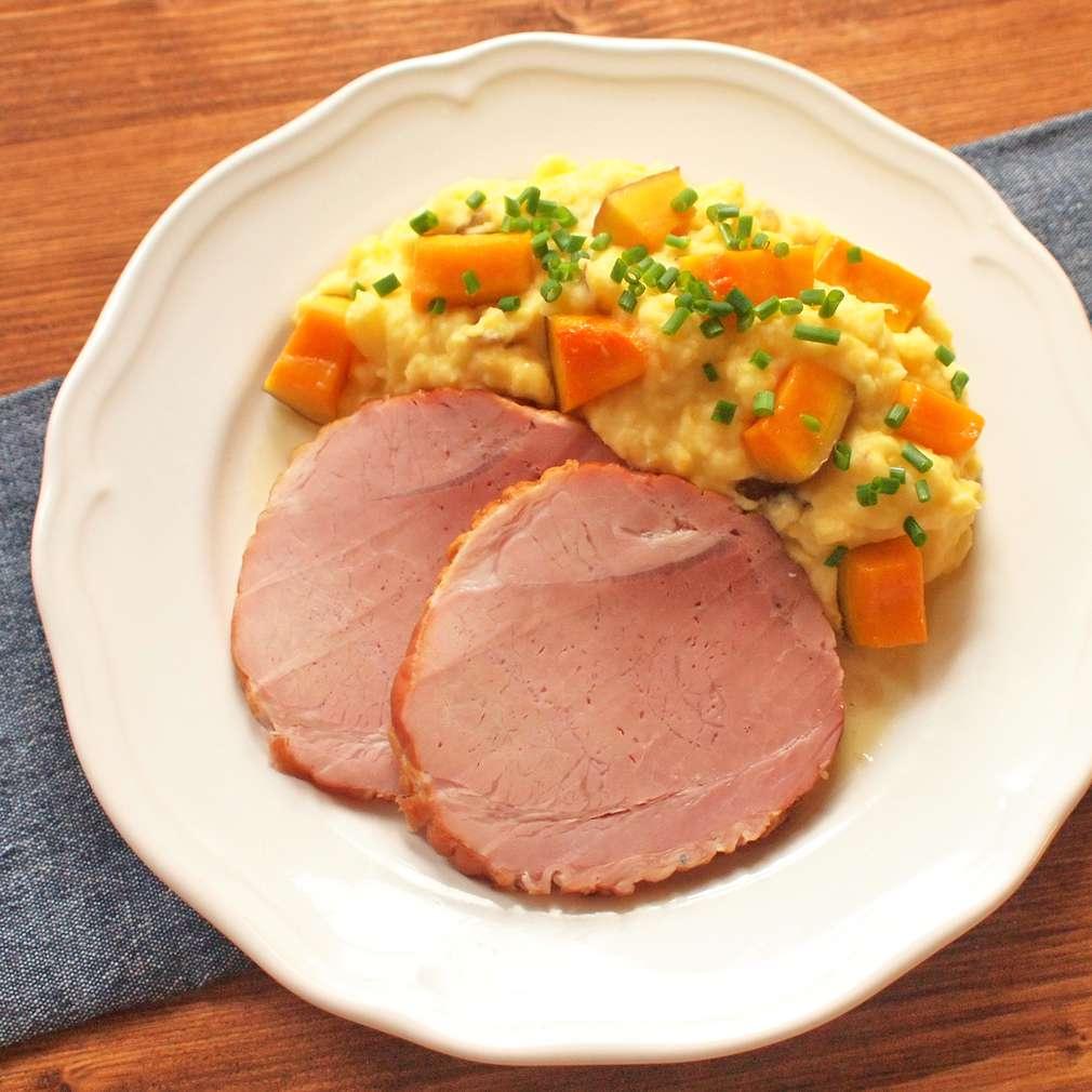 Zobrazit Rolovaná plec s dýňovými bramborami receptů