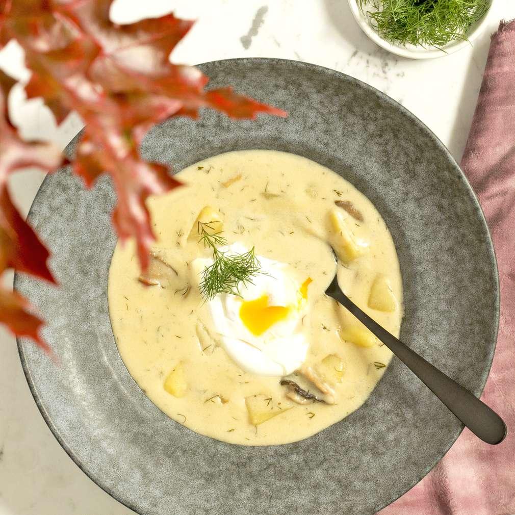 Zobrazit Kulajda se ztraceným vejcem receptů