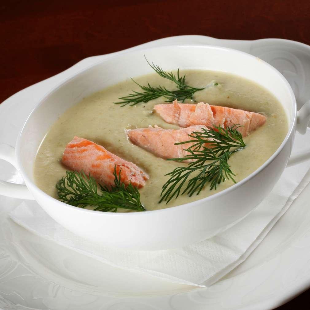 Imaginea rețetei Supă cremă de legume cu somon