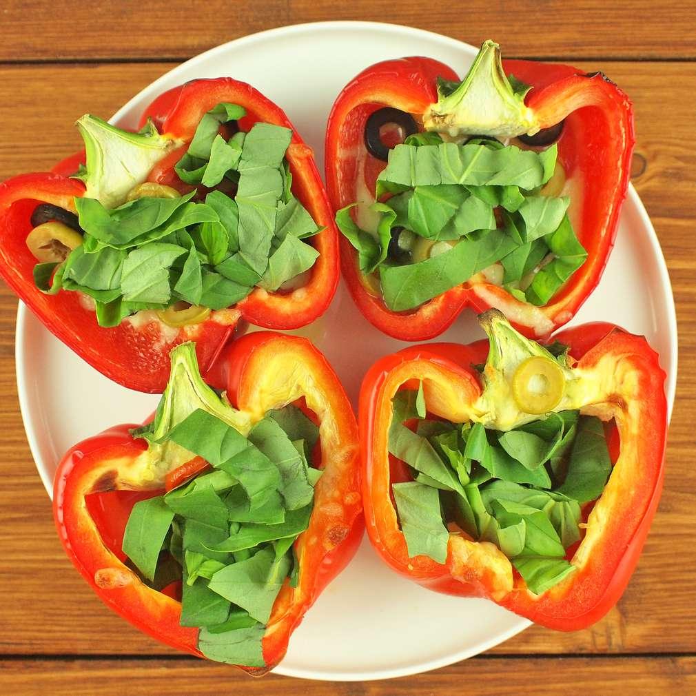 Zobrazit Zapékané papriky s bylinkami receptů