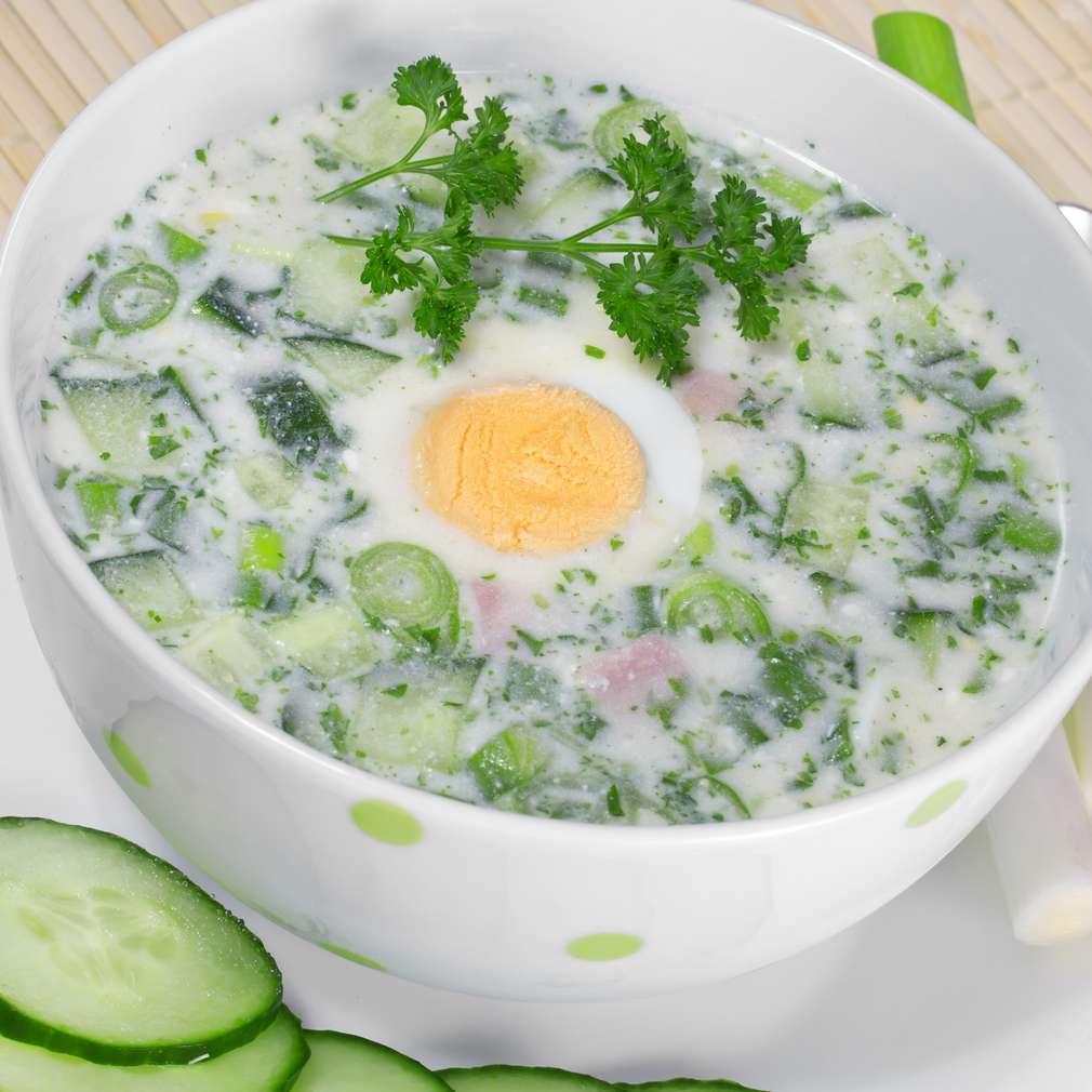 Imaginea rețetei Supă răcoritoare de legume și ouă