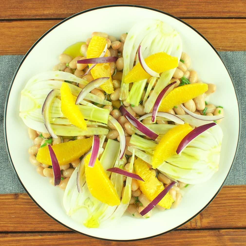 Zobrazit Fazolový salát s fenyklem receptů