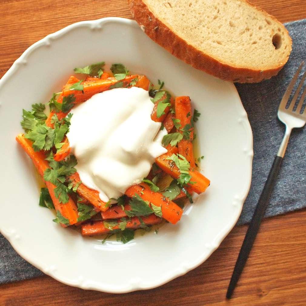 Zobrazit Pikantní mrkev s jogurtem receptů