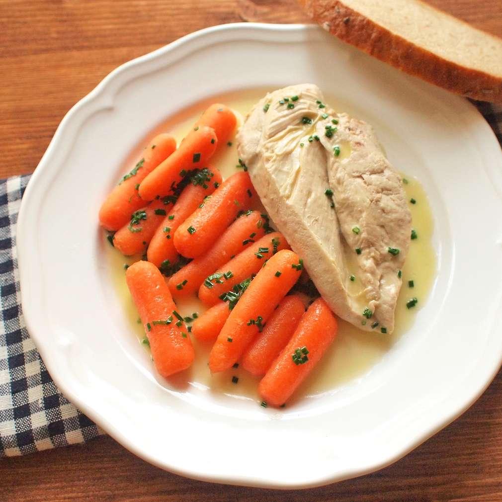 Zobrazit Pošírované kuře s mrkví receptů