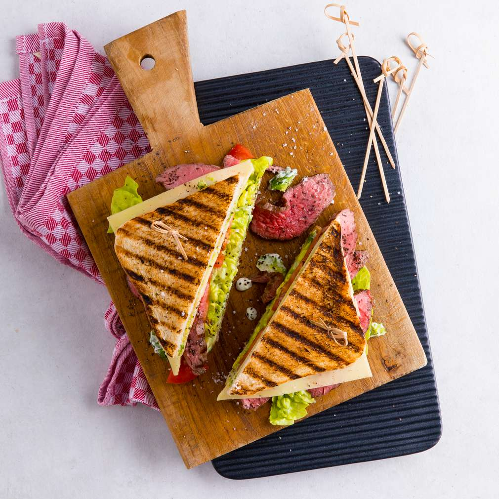 Изобразяване на рецептата Сандвичи с авокадо на грил