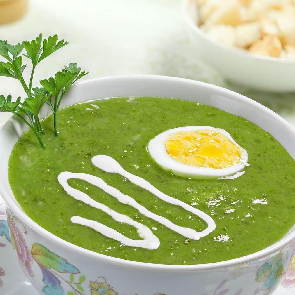 Imaginea rețetei Supă cremă de spanac cu ou