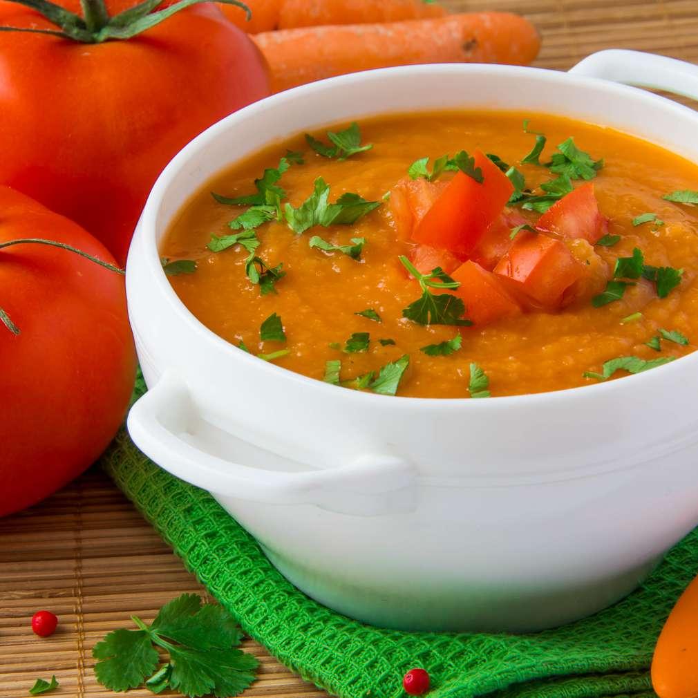 Imaginea rețetei Supă cremă de roşii si ardei