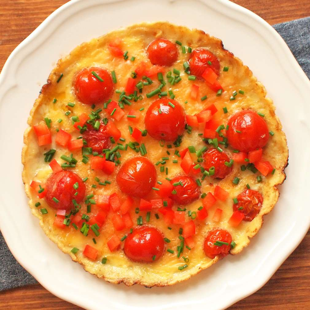 Zobrazit Omeleta s pečenými rajčaty receptů