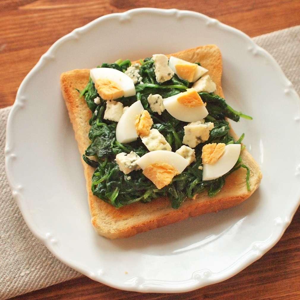 Zobrazit Špenátové toasty s vejcem receptů