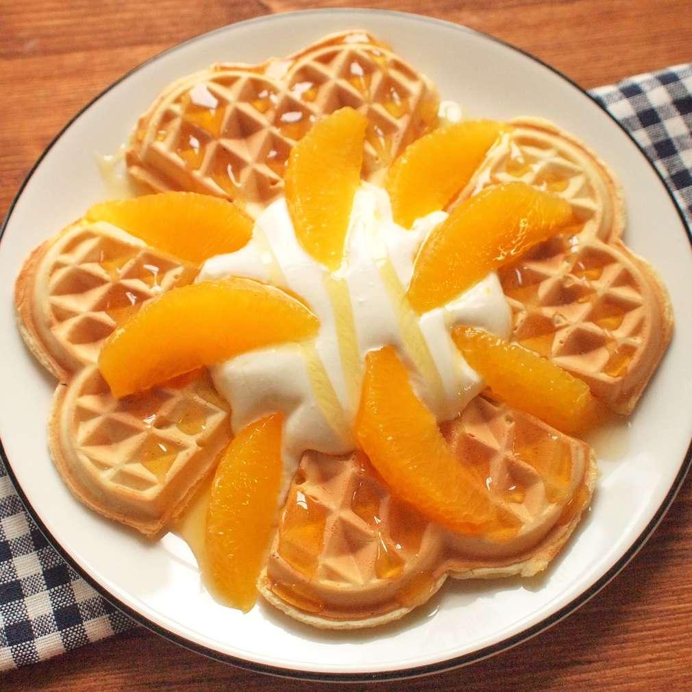 Zobrazit Vafle s pomeranči a medem receptů