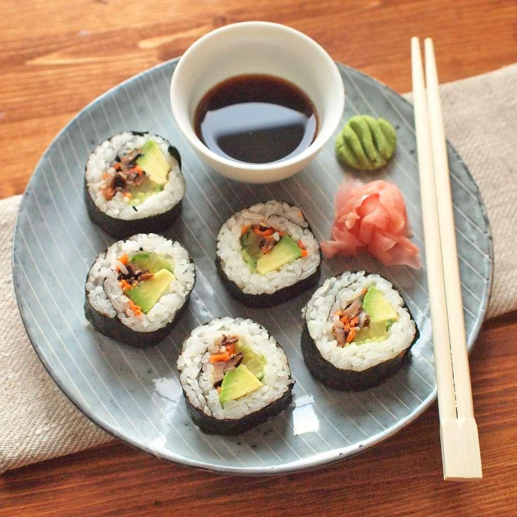 Zobrazit Vegetariánské sushi s avokádem receptů