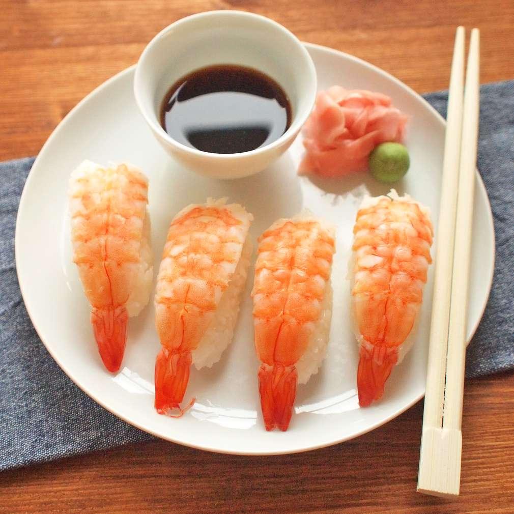 Zobrazit Nigiri sushi s krevetami receptů