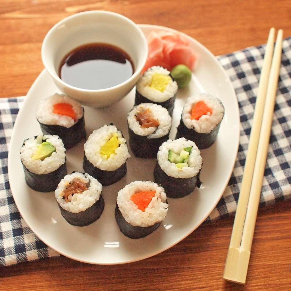 Zobrazit Vegetariánské maki sushi receptů