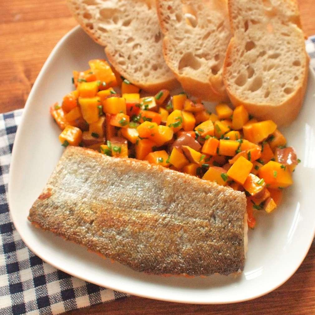 Zobrazit Filet ze pstruha s bylinkovou dýní receptů