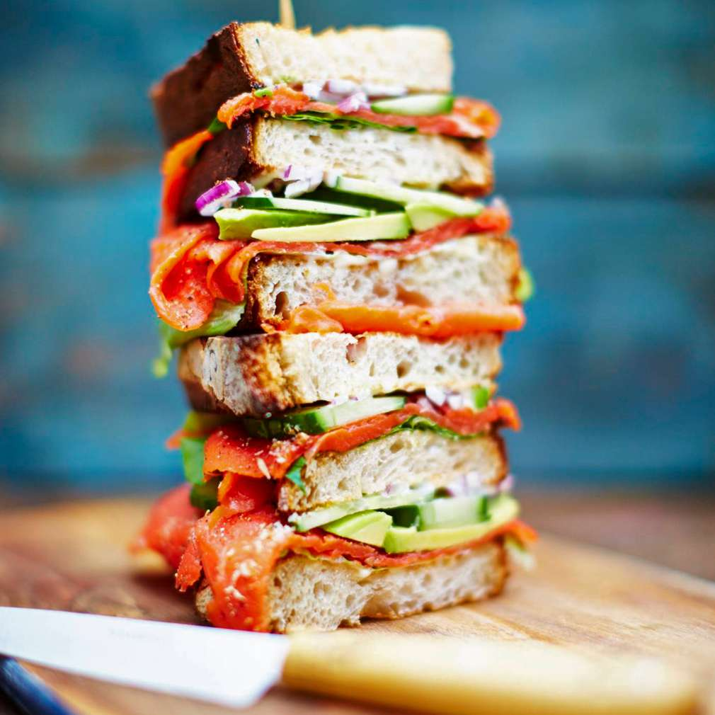 Fotografija recepta Maxi sendvič s lososom