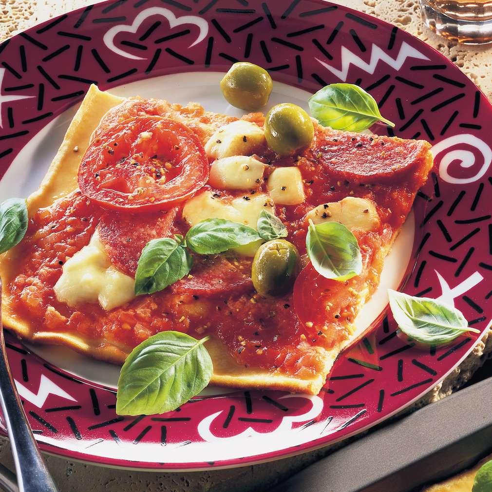 Abbildung des Rezepts Pfannkuchen-Pizza