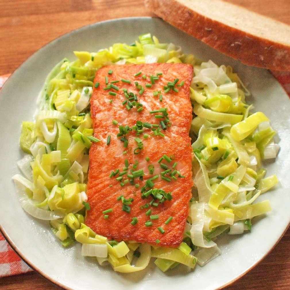 Zobrazit Filet z lososa s dušeným pórkem receptů