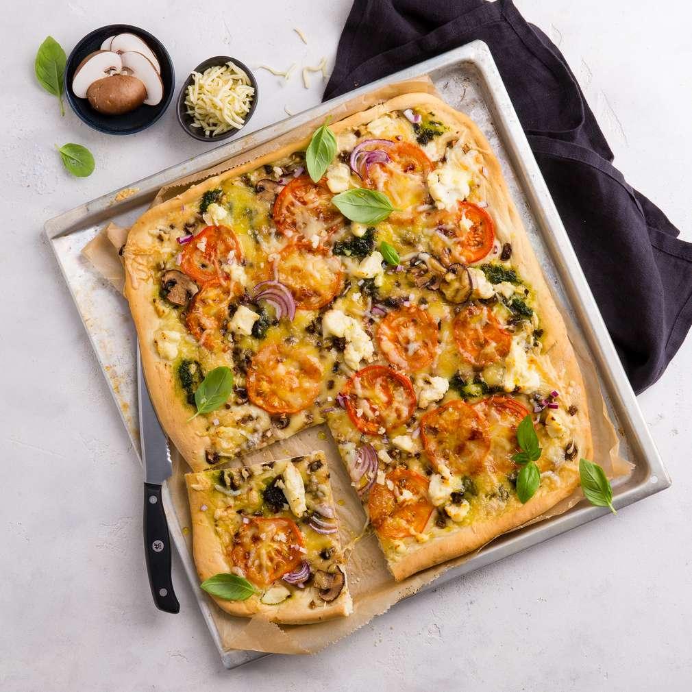 Abbildung des Rezepts Pizza mit dreierlei Käse