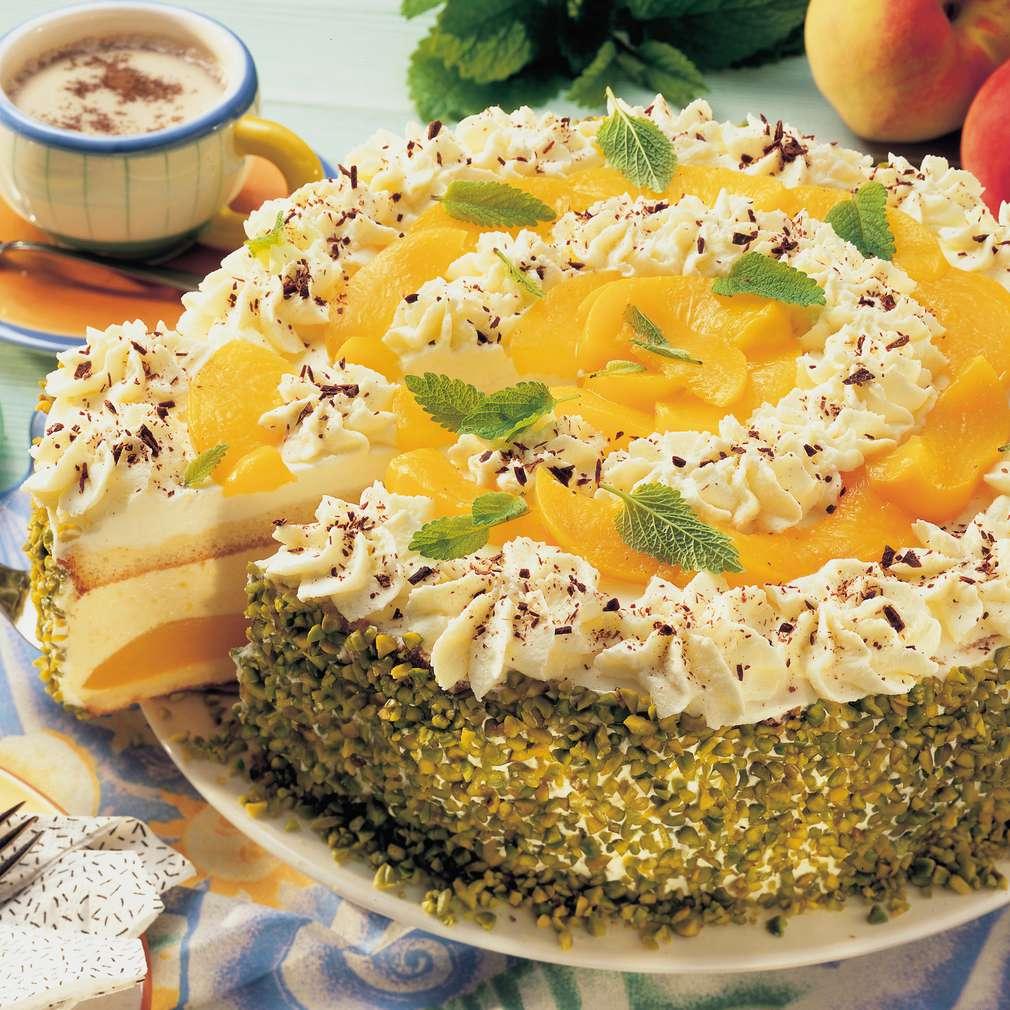 Abbildung des Rezepts Pfirsich-Joghurt-Torte