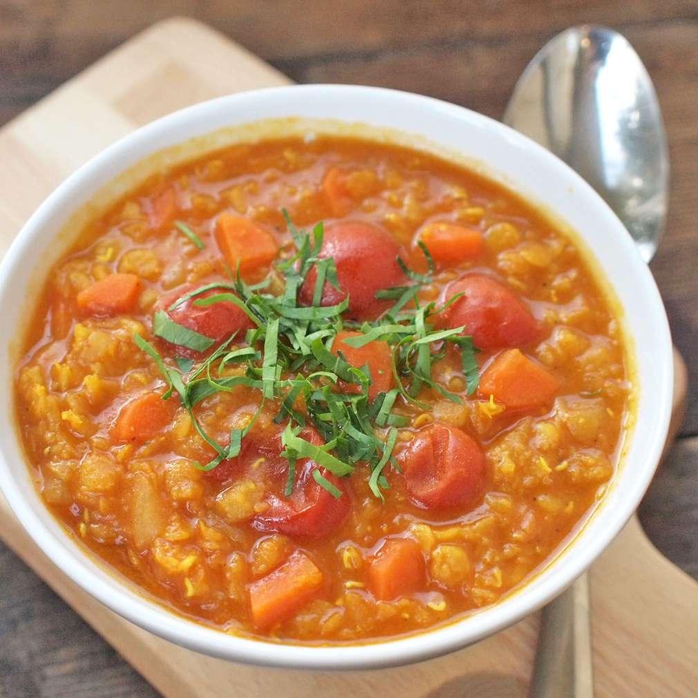 Zobrazit Polévka z červené čočky receptů