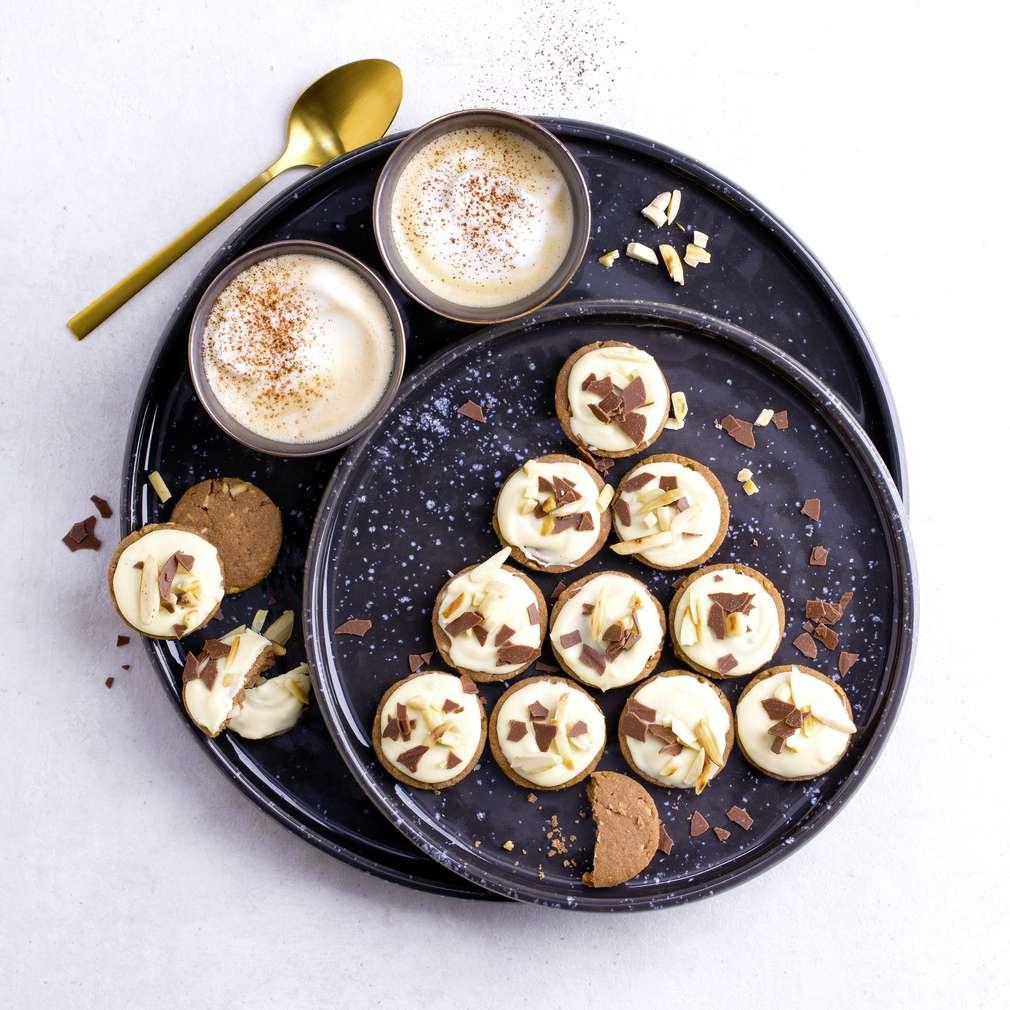 Abbildung des Rezepts Cappuccino-Mandel-Kekse