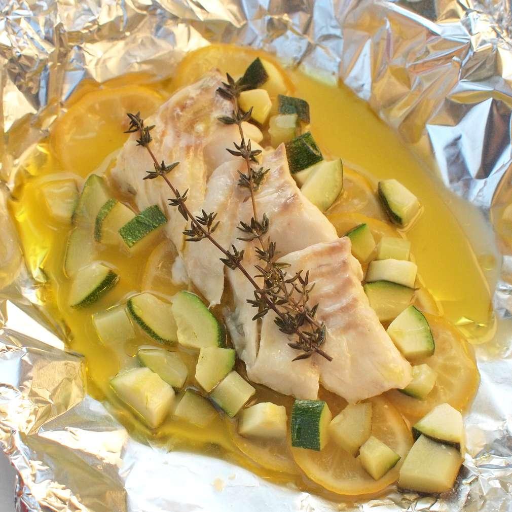 Voňavá ryba pečená v balíčku